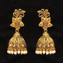 Pendientes golden indian flower
