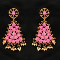 Pendientes campanas con rosas