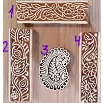 Sello cenefa para dibujos de henna