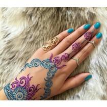 henna de colores brillantes