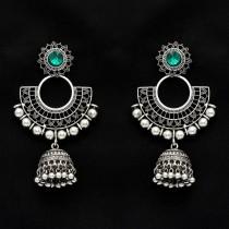 pendientes cristal verde esmeralda