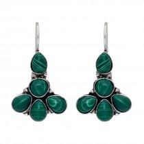 Pendientes piedras verde esmeralda