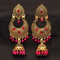 Pendientes Bollywood fucsia