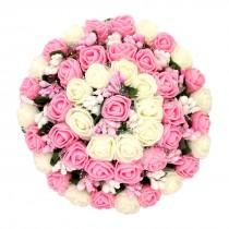 Tocado de moño grande con rosas