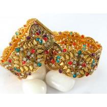 Pareja de pulseras palacio hindu