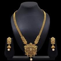 Collar dorado india y pendientes