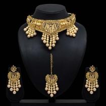 Conjunto perlas marfil