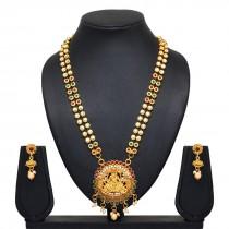 Collar Diosa Lakshmi con pendientes