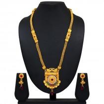 Collar dorado Bollywood con pendientes