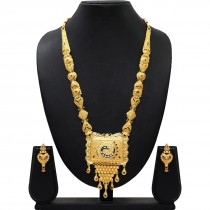 Collar largo hindu con pendientes