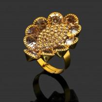 Anillo cristal dorado