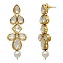 pendientes brillantes perla