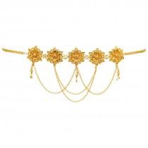 Cinturon India flores doradas