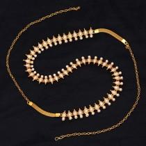 Cinturon perlas blancas