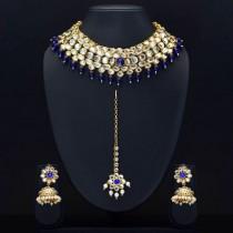 Conjunto joyas hindues azul