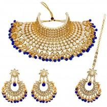 Conjunto Deepika Padukone azul