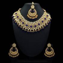 Conjunto joyería india azul