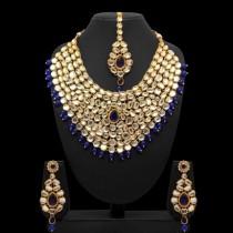 Conjunto kathak azul