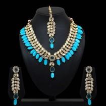 Conjunto colgantes azul turquesa