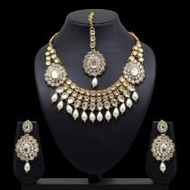 Conjunto lagrimas de perlas blancas