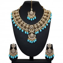 Conjunto joyas indias azul cielo