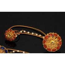 Dos anillos piedras naranjas con cadenas