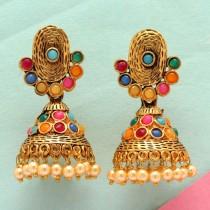 pendientes multicolor campana