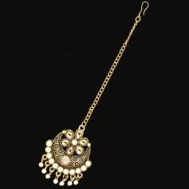 Tikka dorado antiguo con perlas