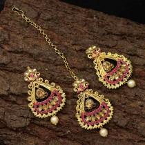 Conjunto rosa bisuteria hindu