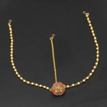 Tiara India Roja y Perlas
