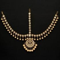 tiara perlas marfil