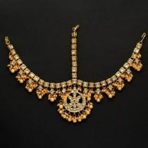 tiara hindú perlas