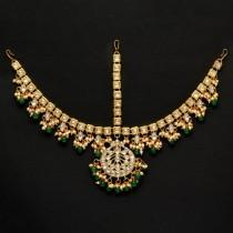 tiara hindú verde