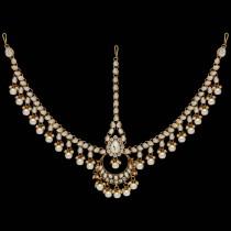 Tiara Grande Novia perlas blancas