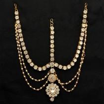 Tiara novia piedras blancas y perlas