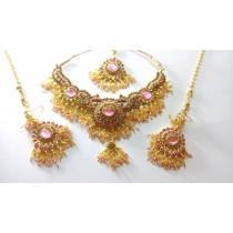 Conjunto rosa baile de Bollywood